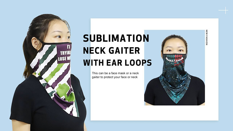 Is a custom neck gaiter with ear loops better than normal neck buff?